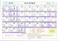Астрологический календарь на Октябрь 2018
