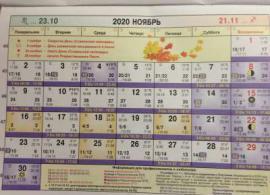 Астрологический календарь на Ноябрь 2020