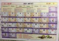 Астрологический календарь на Август 2021