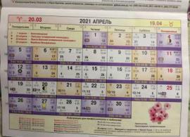 Астрологический календарь на Апрель 2021