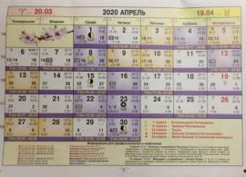 Астрологический календарь на Апрель 2020