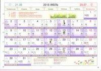 Астрологический календарь на Июль 2018