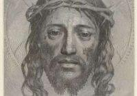 Лик Христа, намальований однією лінією