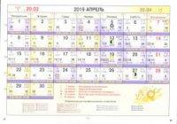Астрологический календарь на Апрель 2019
